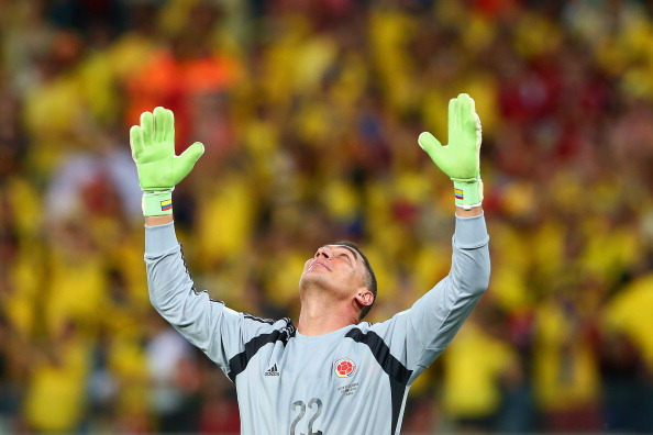 Goalkeeper Faryd Mondragon of Colombia acknowledges the fans after the 2014 FIFA World Cup Brazil Group C match between Japan and Colombia at Arena Pantanal on June 24, 2014 in Cuiaba, Brazil. Photo: Getty Images