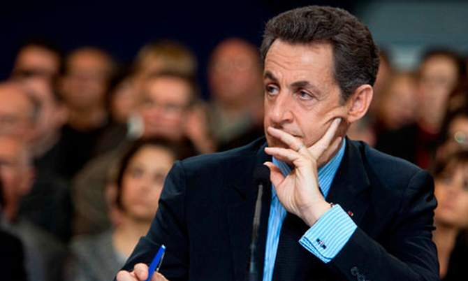 The photo of former French President Nicolas Sarkozy is taken from the Guardian website.