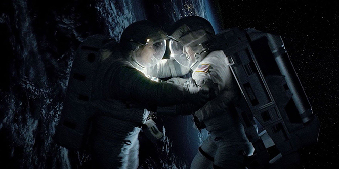 Sandra Bullock stars in Gravity as an astronaut stranded in space