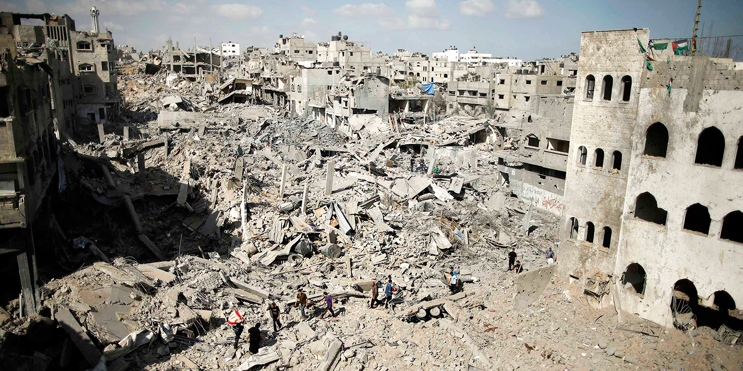 A general view of destruction in the Shejaia neighbourhood, which witnesses said was heavily hit by Israeli shelling and air strikes during an Israeli offensive, is seen in Gaza City. Photo: Reuters
