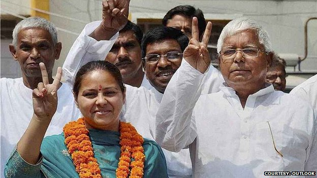 Laloo Yadav, a powerful regional politician and a champion of the lower castes, is fielding his daughter Misa Bharti in these elections. Photo taken from BBC