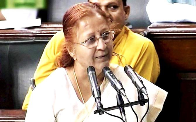 Sumitra Mahajan new speaker of Lok Sabha