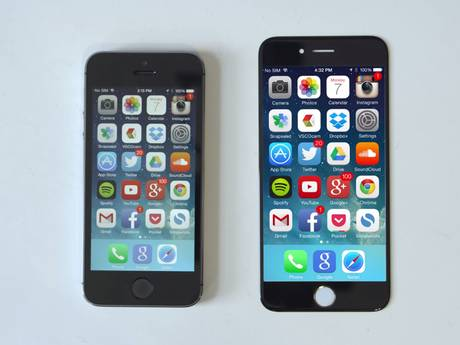 A mock-up of what the iPhone 6 may look like