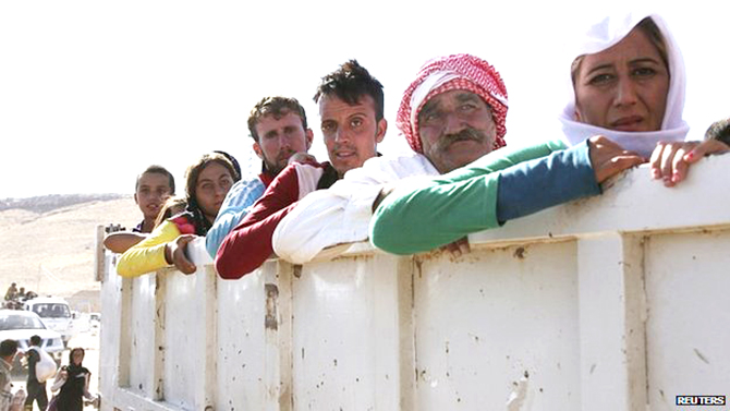 Thousands of people have been displaced by the Sunni militants' advance in northern Iraq. Photo: Reuters