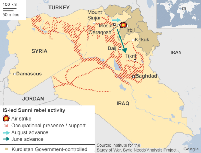 Struggle for Iraq: In maps