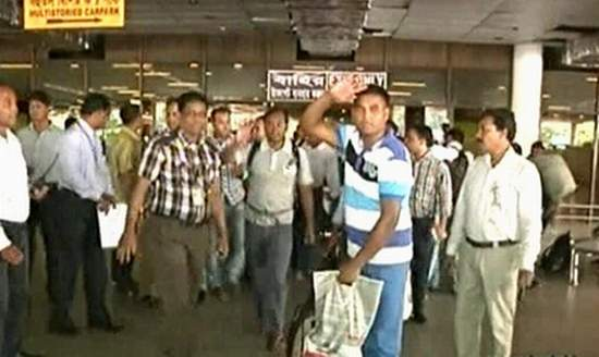 Fifteen Bangladeshi workers from Iraq arrive at Hazrat Shahjalal International Airport in Dhaka on Saturday morning. They were freed 24 days after remaining in captivity of rebels in Iraq.