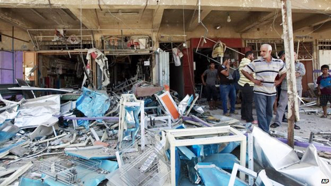 Dozens were killed in an earlier series of blasts in Baghdad at the weekend. Photo: AP