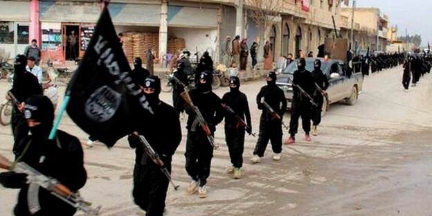 Islamic State militants control large swathes in Syria and Iraq. Photo taken from BBC