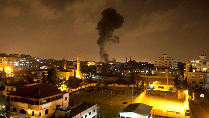 Israel said the air strikes against Gaza are in response to rocket attacks.