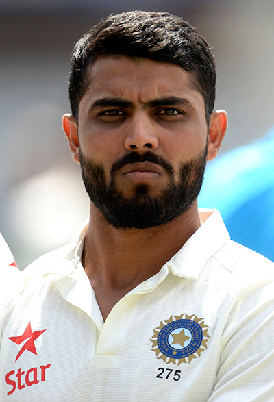 India's Ravindra Jadeja looks on before a team photograph is taken before Thursday's second cricket test match against England at Lord's cricket ground in London July 16. Photo: Reuters