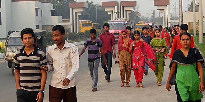 This Star file photo shows workers are entering the Karnaphuli Export Processing Zone (KEPZ) in Chittagong.