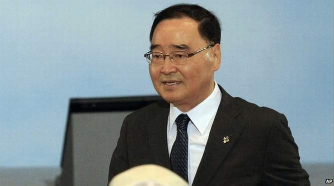 South Korea's Prime Minister Chung Hong-won resigned about 10 days after the sinking of the Sewol ferry to assuage criticism of the government