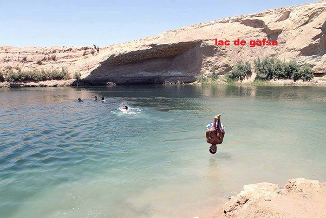 Photo taken from a Facebook page on LAC De GAFSA