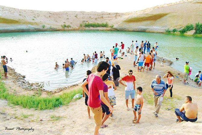 Authorities have warned the water could be radioactive and cause cancer. Photo taken from a Facebook page on LAC De GAFSA