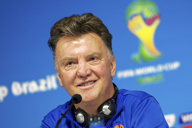 Coach Louis van Gaal of Holland during a press conference of The Netherlands on July 8, 2014 at Arena de Sao Paulo in Sao Paulo, Brazil. Photo: Getty Images