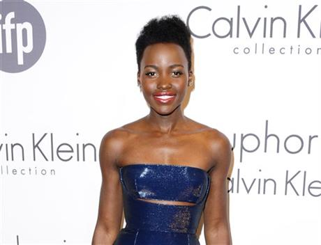 This AP file photo taken on May 15 shows Lupita Nyong'o at the IFP and Calvin Klein Women In Film Party at the 67th international film festival, Cannes, southern France.