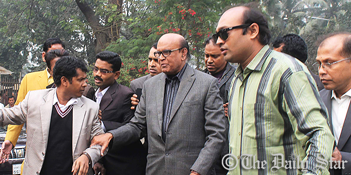 Detectives pick up BNP chairperson's adviser Khandaker Mahbub Hossain in front of Jatiya Press Club premise yesterday