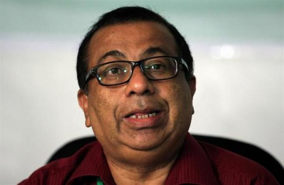 This Reuters photo taken on October 19, 2013 showing Maldives Elections Commissioner Fuwad Thowfeek speaks during a news conference in Male.