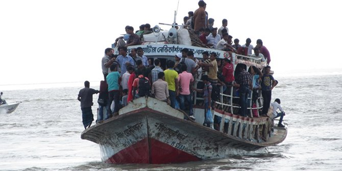 A overcrowded launch in the Padma river. Star file photo