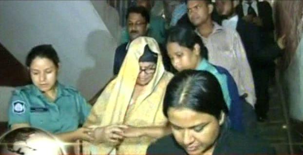 Law enforcers take Adflame Pharmaceuticals director Helena Pasha to jail after a court on Tuesday awarded her along with two others to a 10-year rigorous imprisonment for manufacturing adulterated drug that killed 76 children in the 1990s. Photo: TV grab