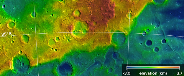 Mountain ranges: Mercury is covered with massive scarps where the surface has shortened. Photo taken from BBC