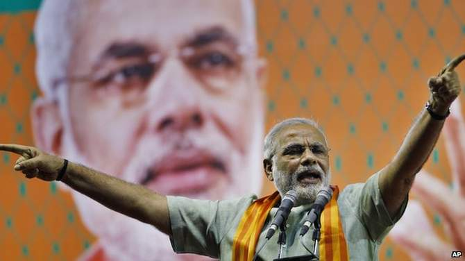 Narendra Modi has denied any responsibility for the Gujarat riots, in which many Muslims were killed. Photo: AP