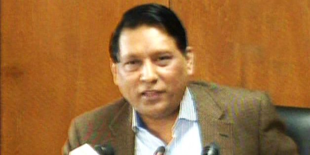 NBR Chairman Golam Hossain talks to reporters at his office in the capital on Thursday. Photo: TV grab