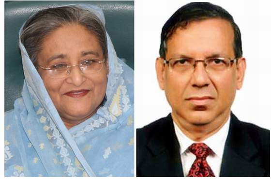 Prime minister Sheikh Hasina and Law Minister Anisul Huq