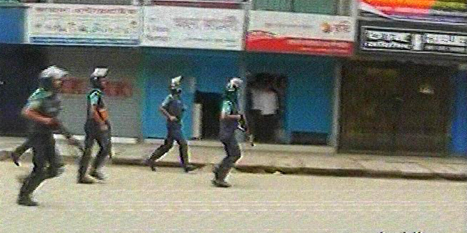 10-hurt-as-jamaat-shibir-men-clash-with-rajshahi-cops