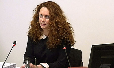 TThis 2012 file photo shows Rebekah Brooks giving evidence to the Leveson inquiry. Photo: Reuters