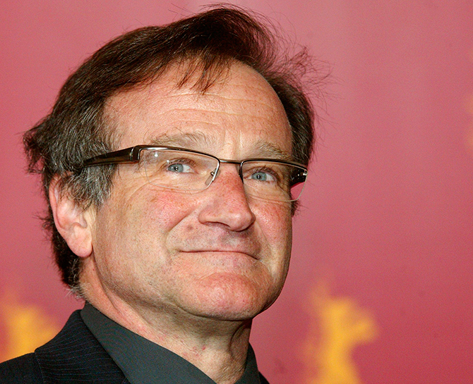 US actor Robin Williams poses during a photocall to present his new movie
