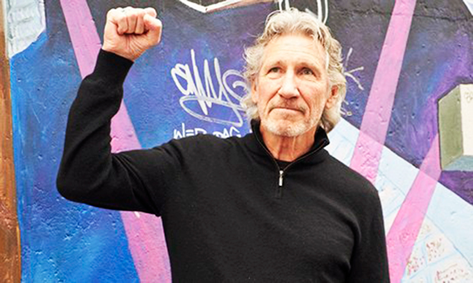 Roger Waters says the parallels between Israel and Germany in the 1930s were 'crushingly obvious'. This photo is taken from The Guardian website.