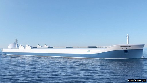 An unmanned ship could be much simpler in design than a traditional one. Photo taken from BBC