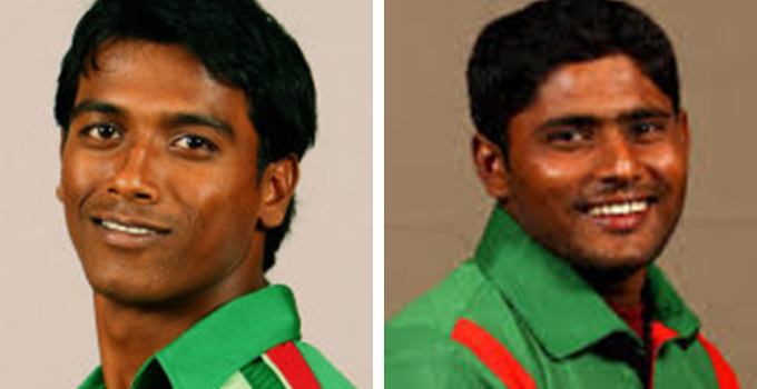 Pace bowler Rubel Hossain (L) and opener Imrul Kayes (R)