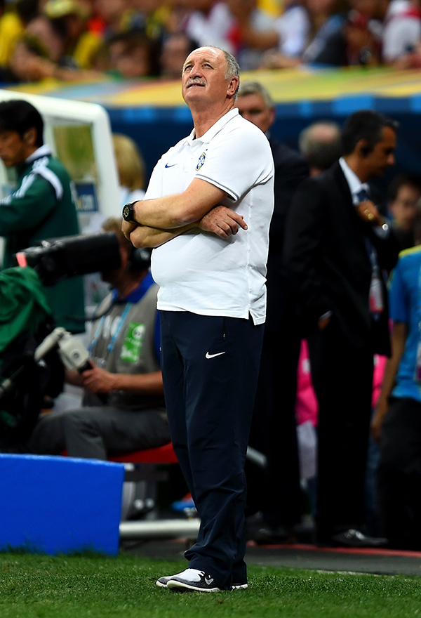 Head coach Luiz Felipe Scolari of Brazil looks on during the 2014 FIFA World Cup Brazil Third Place Playoff match between Brazil and the Netherlands at Estadio Nacional on July 12, 2014 in Brasilia, Brazil. Photo: Getty Images
