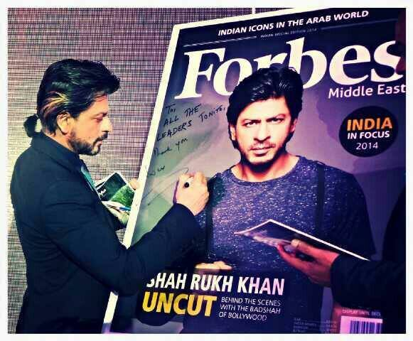 This photo of Shah Rukh Khan is taken from the actor's Facebook page.