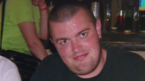 A Facebook apparently dedicated to Liam Sweeney was set up, hosting spam. The photo is taken from BBC Online