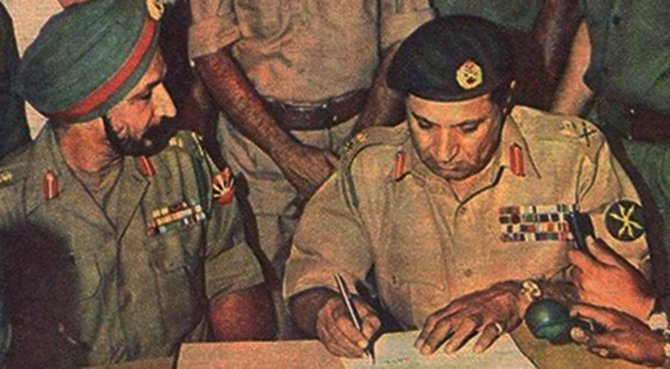 Victory: Pakistan army surrenders to allied forces
