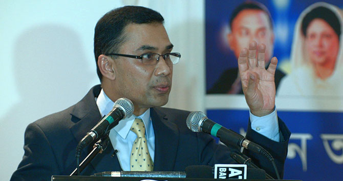 Arrest warrant against Tarique
