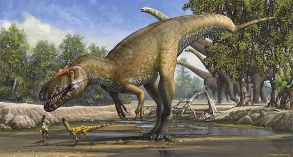 A Torvosaurus gurneyi dinosaur is seen in an undated artist's rendering released March 5, 2014. Photo: Reuters