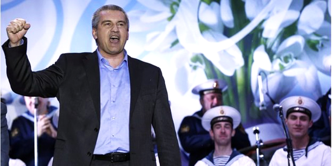 Crimea's pro-Moscow leader Sergei Aksyonov said he would send a formal request to join Russia on Monday. Photo: Reuters