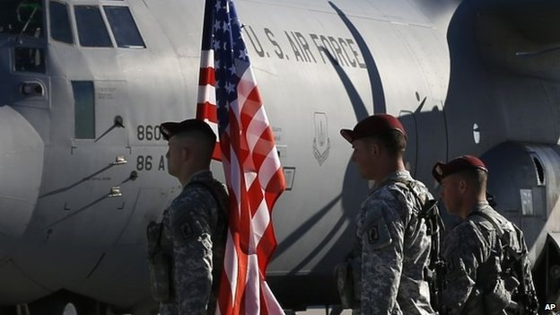 The US and Nato have recently strengthened their military presence in eastern Europe. Photo taken from BBC