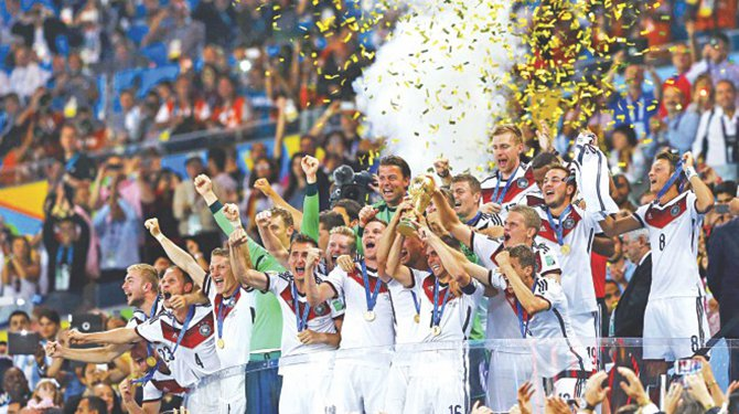 Germany damage World Cup trophy
