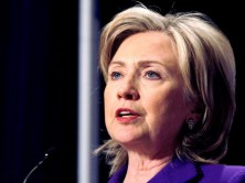 Hillary Clinton focuses on policy, not personal issues