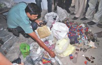 Bombs, raw materials seized from Shibir controlled dorms