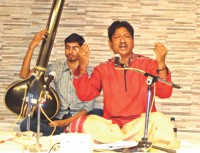 Classical vocal music recital by Anil Kumar Saha