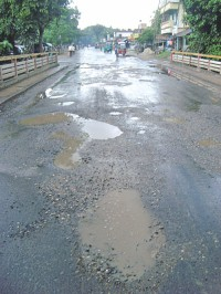 Road gets badly damaged within week of repair