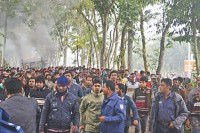 Jessore road accident sparks rowdy protest
