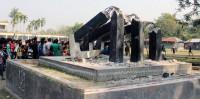 Another shaheed minar vandalised in Kushtia