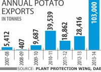 Potato exports treble